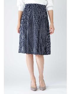 ◆[ウォッシャブル]グラフィカルジャージープリントスカート
