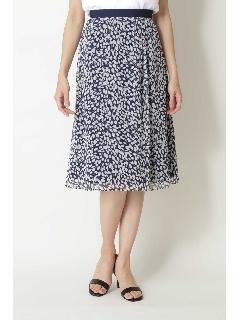 ◆グラフィカルフラワープリントスカート