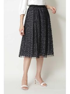 ◆ジオメトリックリバープリントスカート