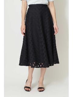◆チュールチェック刺繍スカート
