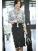 [WEB限定商品][ウォッシャブル]フロントジップスカート
