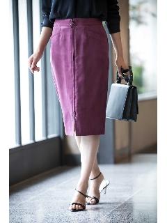 ◆[WEB限定商品]フェイクスエードジップ付きスカート