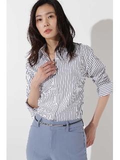 [ウォッシャブル]コットンストライプシャツ