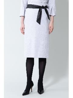 《B ability》ヘリンボーンジャージセットアップスカート
