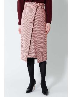 《B ability》ヘリンボーンスリットラップスカート