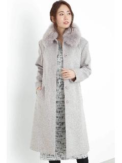 ファー付ステンカラーコート