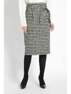 [ウォッシャブル]千鳥幾何プリントスカート