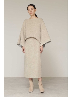 ◆ウールリバー配色セットアップスカート