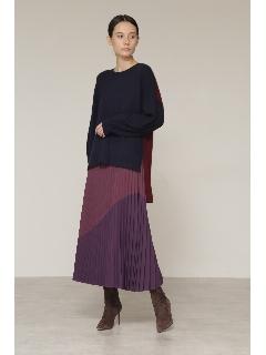 ◆バイカラープリーツスカート
