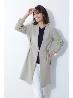 ◆[ウォッシャブル]ダブルクロスセットアップジャケット