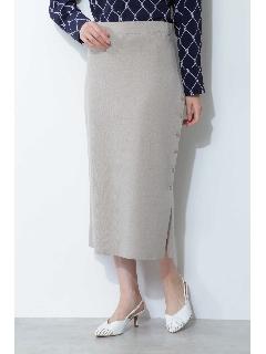 ◆[ウォッシャブル]ハイゲージニットセットアップスカート