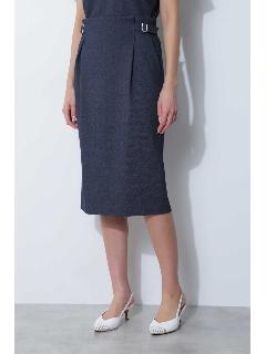 ◆デニム調ジャージーセットアップスカート