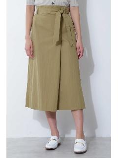 [ウォッシャブル]ベルト付タックロングスカート