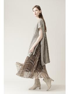 ◆チェックオーガンジープリーツスカート