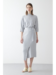 ◆シルク混スムースニットセットアップスカート