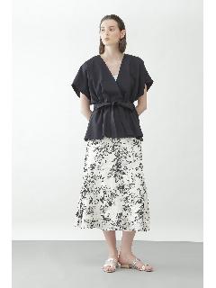◆モノトーンオパールプリントスカート