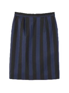 メモリーストライプタイトスカート