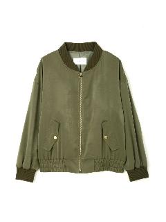 ピーチサテンMA-1ジャケット