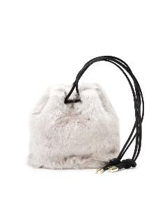 ファー巾着バッグ