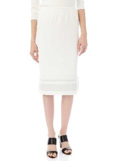 シャインボーダーニットスカート