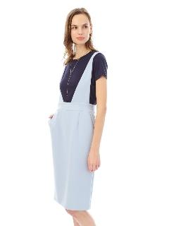 《HOLIDAY LINE》Wクロスストレッチジャンパースカート