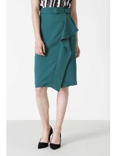 [洗える]アシンメトリーラッフルカラースカート
