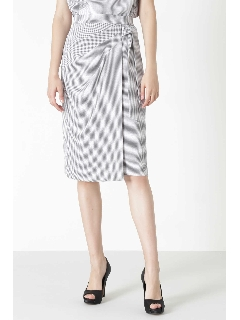 ◆ハウンドトゥースドレープラップスカート