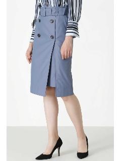 ◆ダブルボタントレンチスカート
