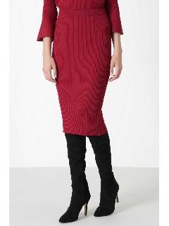 ◆ラッフルスリーブニットアップスカート