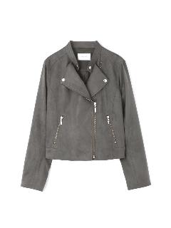 ◆カラーフェイクスエードライダースジャケット