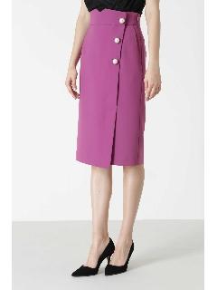 ◆BIGパールポイントカラーラップスカート