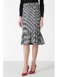 ◆ハウンドトゥースマーメイドラップスカート