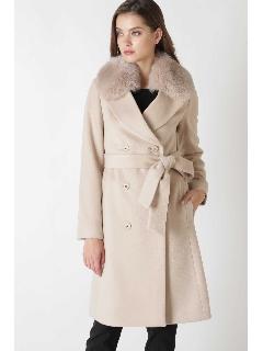 ◆FOXファーステンカラーカシミヤ混コート