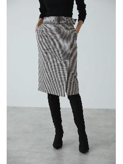◆ウールチドリサイドベンツスカート