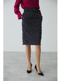 ◆ブリティッシュストライプペンシルスカート