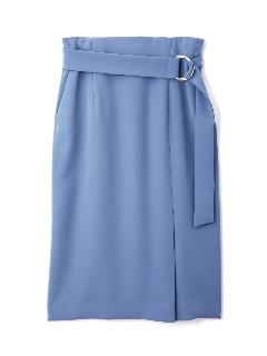 ◆メタルリングベルトダブルサテンスカート