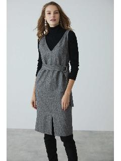 ◆ウールヘリンボーンジャンパースカート