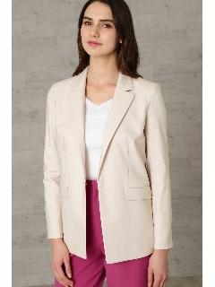 ◆シャンブレーリネン テーラードジャケット