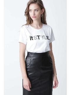 ◆ビジューMIXロゴTシャツ