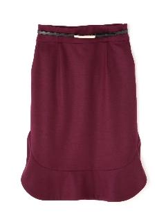 ◆ウールジャージラッフルヘムスカート
