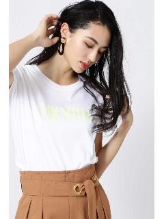 ◆クリアーコットンネオンロゴTシャツ