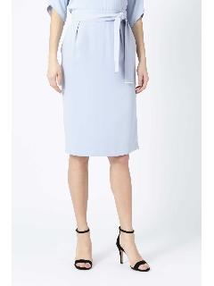 [ウォッシャブル]ウエストリボンセットアップスカート