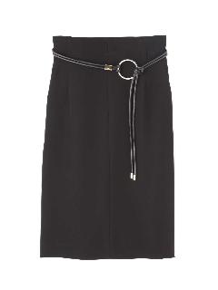 [ウォッシャブル]2WAYベルトタイトスカート
