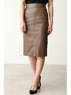 フェイクレザータイトスカート