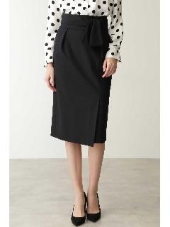 ◆リボンベルト付きバックマーメイドスカート
