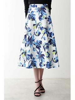 ボールドフラワープリントスカート