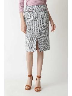 ◆ブレードトリミングカラーツイードスカート