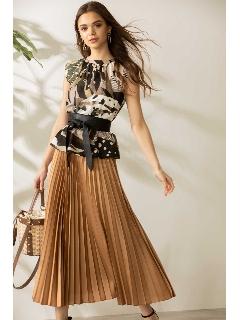 ◆プリーツロングスカート