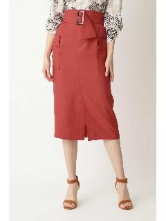 スラブツイルパッチポケットスカート