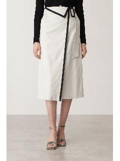 ◆フォールディッド配色スカート
